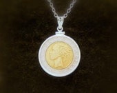 italian coin necklace on Etsy, a global handmade and vintage ...