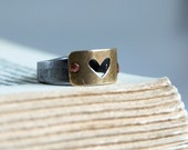 Heart Ring Antique Barn Nail Band Mothers Day Gift Ideas For Her - steampunkfunk