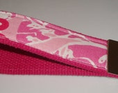 Wristlet Key Ring Chain Fob made with Lilly Pulitzer Fabric