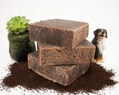 Organic Soap - Vegan / Mocha Chocolate, Vanilla, & Exfoliating Coffee Grounds / Cellulite Fighter / 5.5 oz Bar / ROBUST DEMITASSE