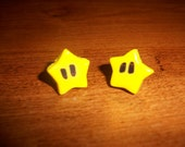 Mario POWER STAR handmade earrings