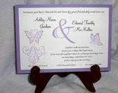 100 Butterfly Wedding Invitations, RSVP's, Reception Invitations with FREE Calendar Stickers