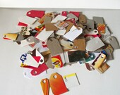 150 Recycled Tags For Scrapbooking, Gifts, Products, ETC 3 Sizes Grab Bag