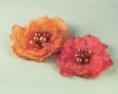 НОВИНКА: Коллекция Elle - шампанское оранжевый Ткань Цветы (головная повязка аксессуары, Scrapbooking Приукрашивание)
