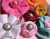 Новый релиз - Нет Шить - Новичок Цветок Ткань / Розы Инструкции Шаблоны PDF