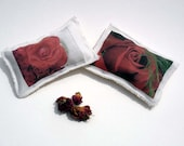 Rose petal filled sachets, red rose sachets