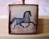 Resin Pendant, Primitive Horse