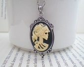 Day of the Dead Necklace. Skull Cameo. Gothic Jewelry. Halloween Accessory. Madame Mayhem  - Your Choice