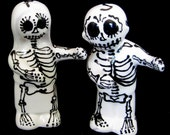 Skeleton Salt & Pepper Shakers or Caketoppers