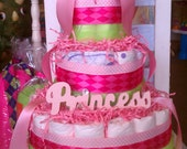 Pink Princess 3 Tier Diaper Cake