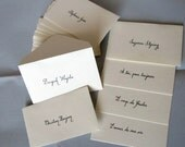 Beautiful Hand Lettered Calligraphy Escort or Place Cards with Table Number or Names