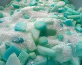Turquoise Sea Glass Bath Salts, Spa Soak