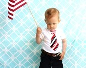 NEW Patriotic Tie Collection 2011.  Choose Any Tie on Any Size Long  or Short Sleeve Onesie