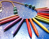 Tribal Rainbow Dyed Howlite Turquoise Point Necklace