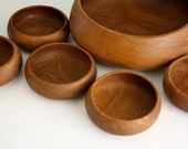 Vintage Teakwood Salad Serving Set by Kalmar Designs, Scandinavia
