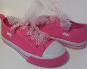 Pink Princess Crown & Ribbon Kicks