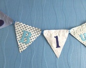 Blue Personalised Baby Bunting