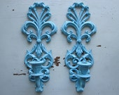 Ornate Aqua Sconces