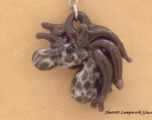 Horse Head Lampwork Glass Pendant