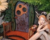 Country Cottage--  Wife Inspired Fairy Gnome Elf Door - CelticRealm