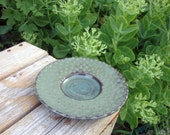 Slip Decorated Black Stoneware Dish - RedBarnStudio