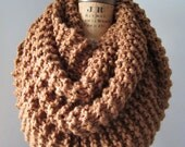 Super  Snuggly Chunky knit cowl hazelnut brown