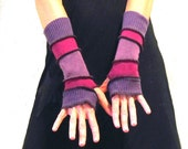 Purple Rain - Striped Arm Warmers