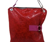 Red Leather Bag - The Luella