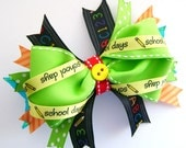 Back to School Boutique Bow with Spikes