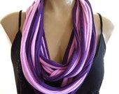 String necklace Scarf ...Very soft ...soft Lilac and Purple
