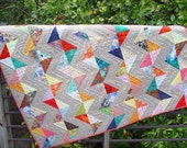 Zig Zag Triangle Lap Quilt