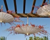 Wedding Parasols Upside Down Hanging Floral or Fall Leaves - ABridalConnection