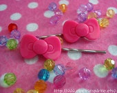 Sweet Hello Kitty Style Bow Clips