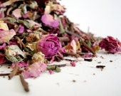 Organic PINK ROSE and GREEN Tea 15-20 cups- Full of powerful antioxidants. Valentines day