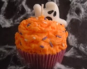 Boo...Pumpkin Buttercream Scented...Soy Wax Cupcake Candle