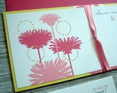 Dahlia Wedding Invitation Ensemble with Billy Balls - SAMPLE