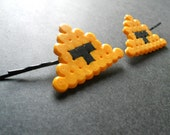 2 Legend of Zelda triforce perler bead bobby pins