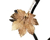24KT Gold REAL Maple Leaf Pendant Necklace