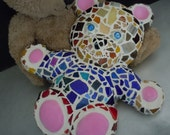 TEDDY BLUE EYES - The Mosaic Teddy Bear