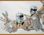 Chickadees-Bird Dancer Original Painting