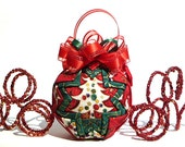 Fall Christmas Quilted Ornament - Christmas Trees