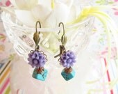 Adorable Lavender & Blue Earrings
