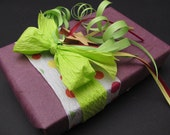 Purple Phlox . Purple Mulberry Gift Wrapping with Cutout Wood Star Charm - Timber Green Woods . tagt team
