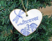 Ceramic Heart Christmas Ornament