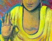 Yellow Buddha - Art Print  - Limited Edition 10x14