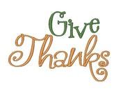 Give Thanks Embroidery Design (2 digital files)
