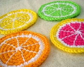 Citrus Slice Coasters - Set of 4 - Orange, Lemon, Lime, Grapefruit
