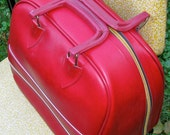 vintage bowling bag - classic red