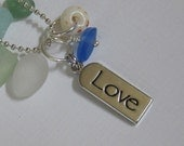 Sea Glass LOVE Necklace