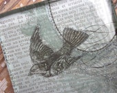 ge Glass Paperweight Vintage Rare Bird
